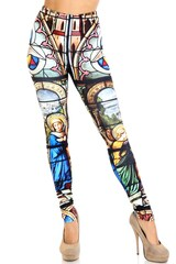 Stained Glass Cathedral Creamy Soft Leggings - Extra Plus Size