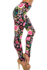 Creamy Soft Floral Oasis Leggings - Extra Plus Size