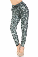 Double Brushed Snow Leopard Joggers