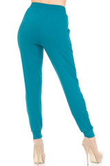 Buttery Soft Solid Basic Teal Joggers - EEVEE
