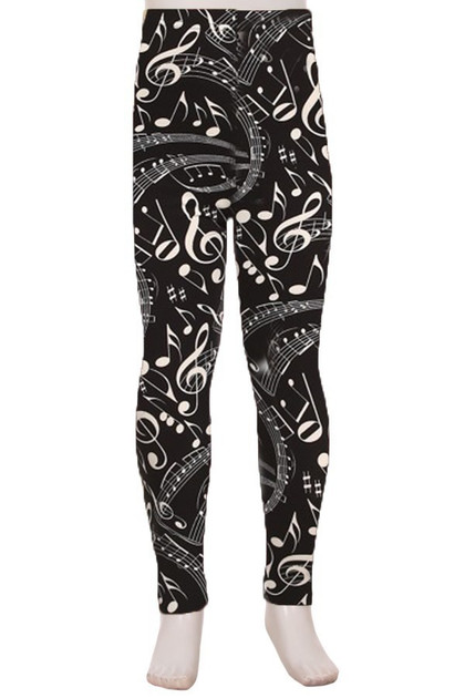 Double Brushed Music Note Kid's Leggings