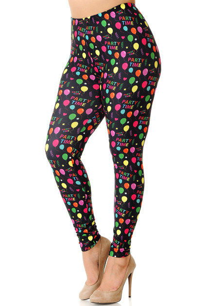 Party Time Creamy Soft Leggings - Plus Size