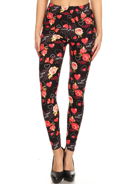 Valentine's Day Double Brushed Leggings