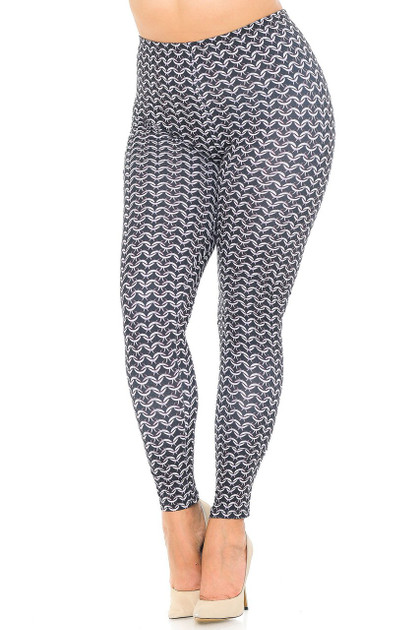 Double Brushed Chainmail Leggings - Plus Size