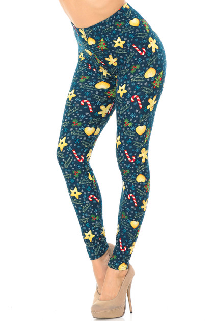 Double Brushed A Very Merry Christmas Leggings - Extra Plus Size - 3X-5X