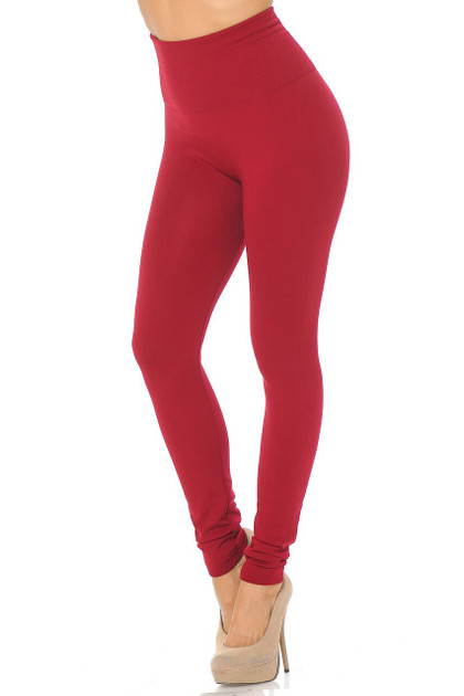 High Waisted Fleece Lined Leggings - Plus Size - New Mix