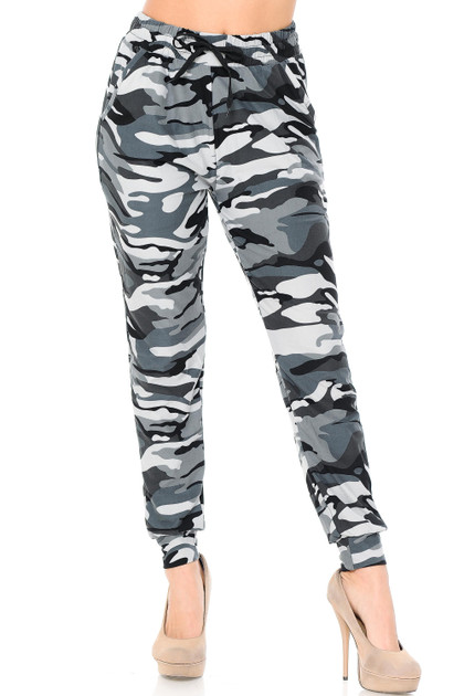 Double Brushed Charcoal Camouflage Joggers