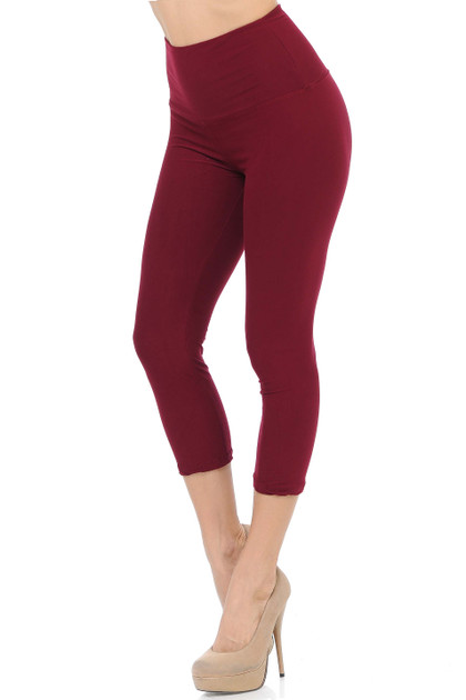 Buttery Soft Basic Solid High Waisted Capris - 5 Inch - New Mix