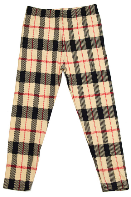 Buttery Soft Smooth Plaid Kids Leggings