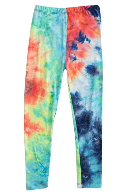Double Brushed Colorful Summer Kids Leggings