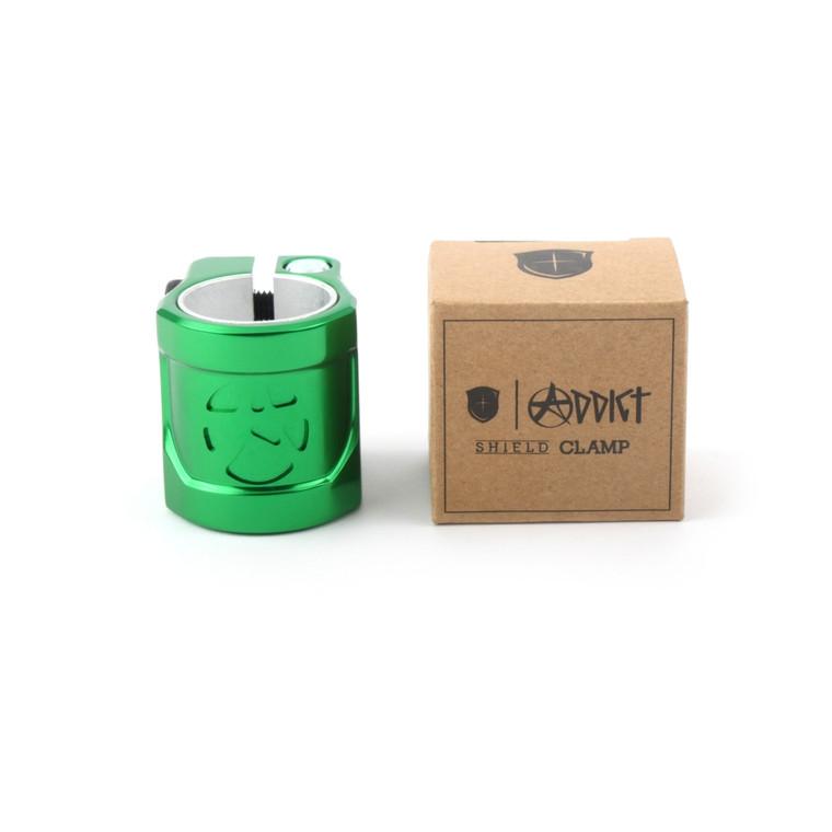 Shield Clamp Bottle Green
