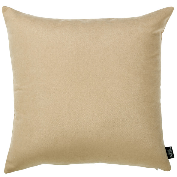"18""x18"" Light Beige Honey Throw Pillow Cover (2 pcs in set)"