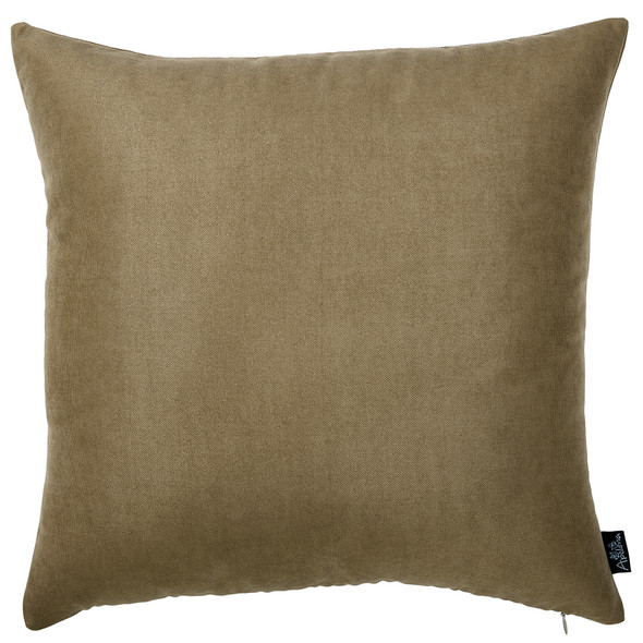 "18""x18"" Brown Honey Totilla Decorative Throw Pillow Cover (2 pcs in set)"