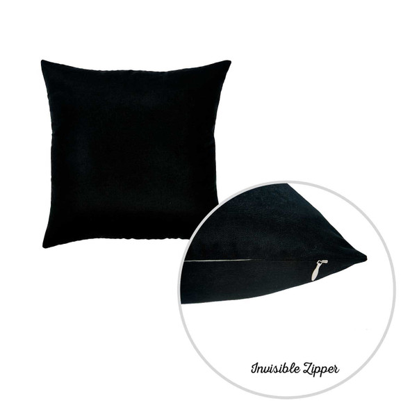 "20""x20"" Black Honey Decorative Throw Pillow Cover (2 pcs in set)"