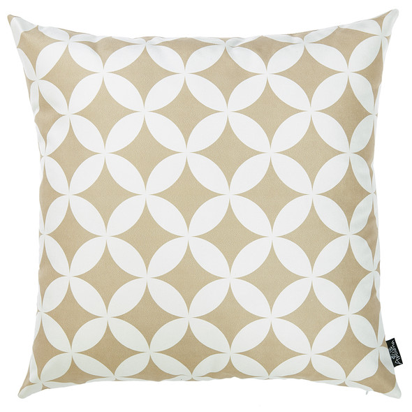"18""x 18"" Tropical Deco Printed Decorative Throw Pillow Cover"