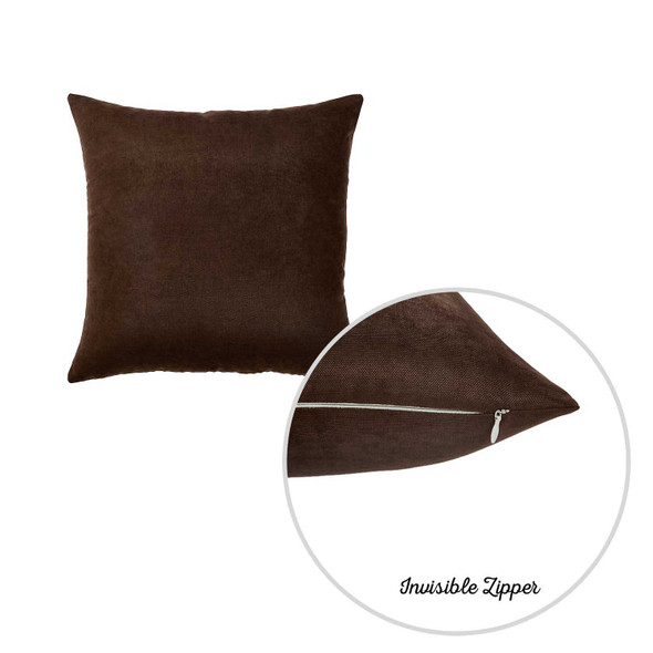 "20""x20"" Brown Honey Decorative Throw Pillow Cover (2 pcs in set)"