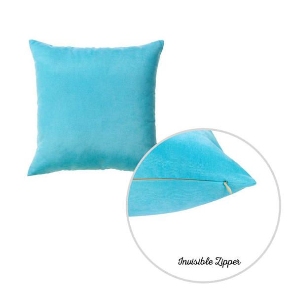 "20""x20"" Sky Blue Honey Decorative Throw Pillow Cover (2 pcs in set)"