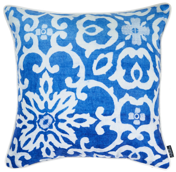"18""x 18"" Blue Sky Tile Decorative Throw Pillow Cover Printed"