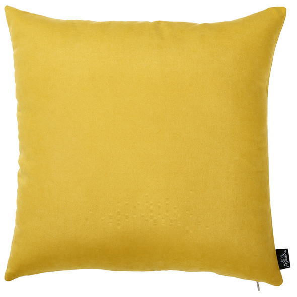 "18""x18"" Yellow Honey Decorative Throw Pillow Cover (2 pcs in set)"