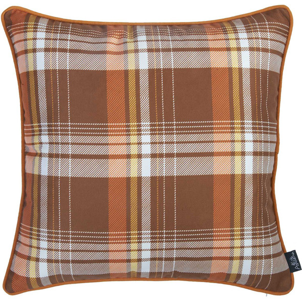"""18""""x 18"""" Thanksgiving Rustic Square Decorative Throw Pillow Cover"""