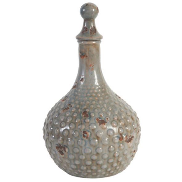 Ceramic Lidded Jar, Gray - 316102