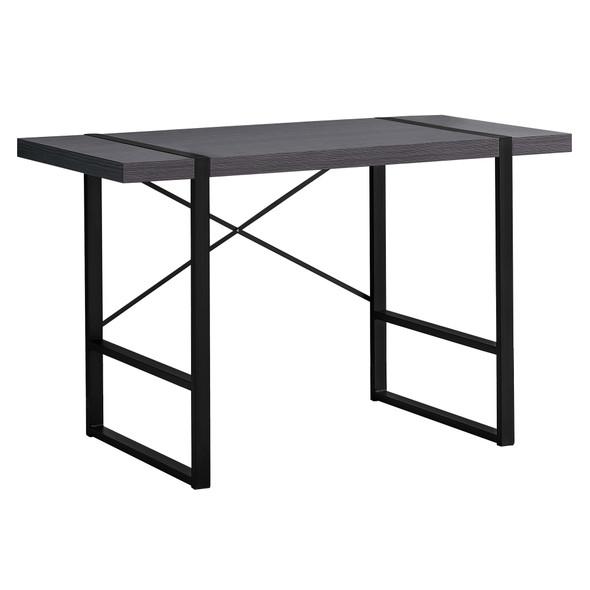 "23.75"" x 49"" x 30"" Grey/Black, Metal - Computer Desk"