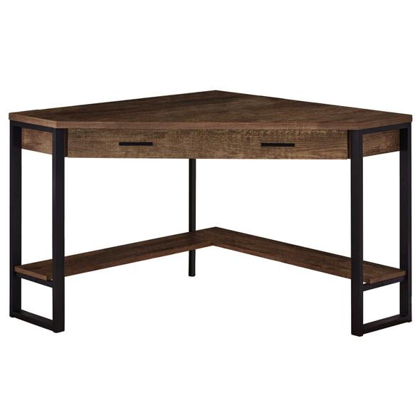 """42"""" x 42"""" x 30"""" Brown, Reclaimed Wood Corner - Computer Desk"""