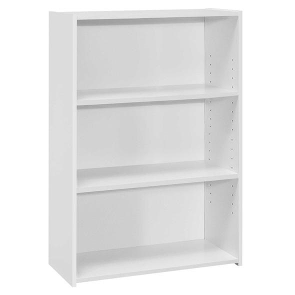 """11.75"""" x 24.75"""" x 35.5"""" White, 3 Shelves - Bookcase"""