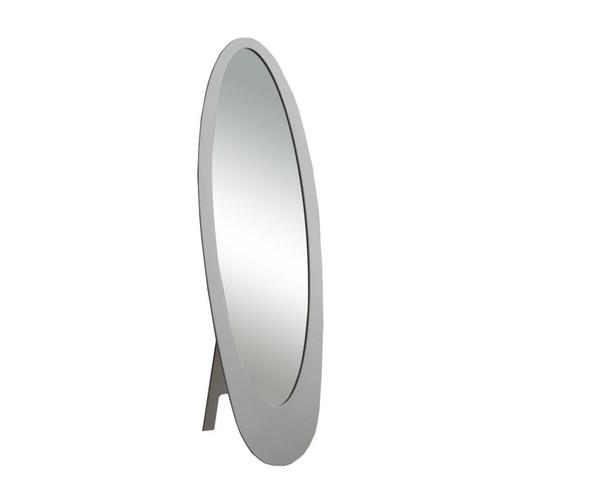 """18.5"""" x 18.75"""" x 59"""" Grey, Oval Frame - Mirror"""