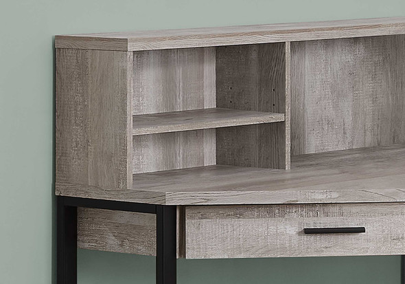 "47.5"" x 47.5"" x 42"" Taupe, Reclaimed Wood Corner - Computer Desk"