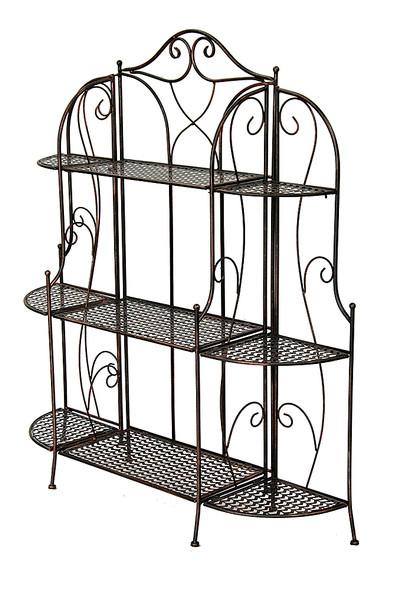 """48"""" Blackened Copper Steel Baker's Rack with 3 Standard Shelves"""