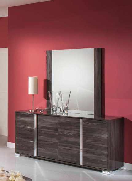 Modern Grey Mirror