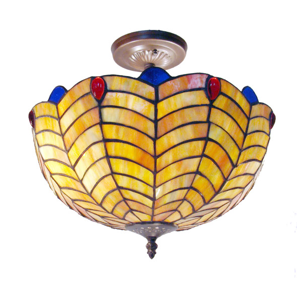 Tiffany-style Shell Hanging Light