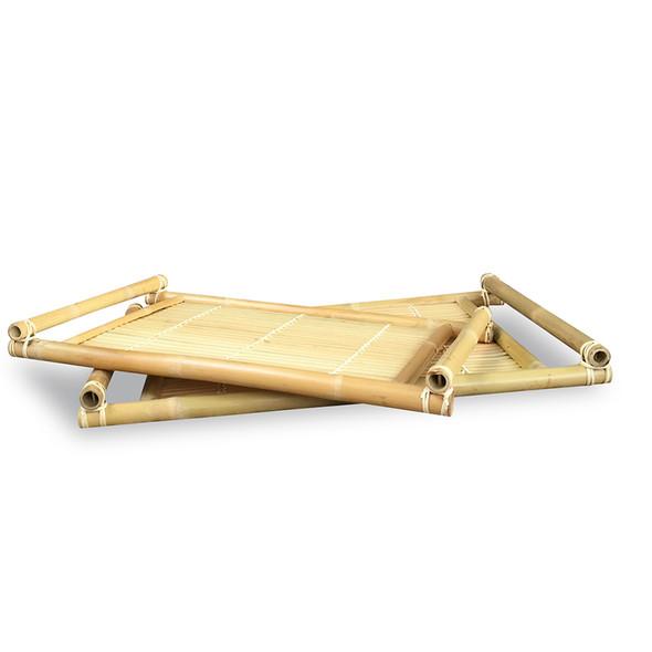 "2"" 2 Natural Bamboo Nesting Trays"