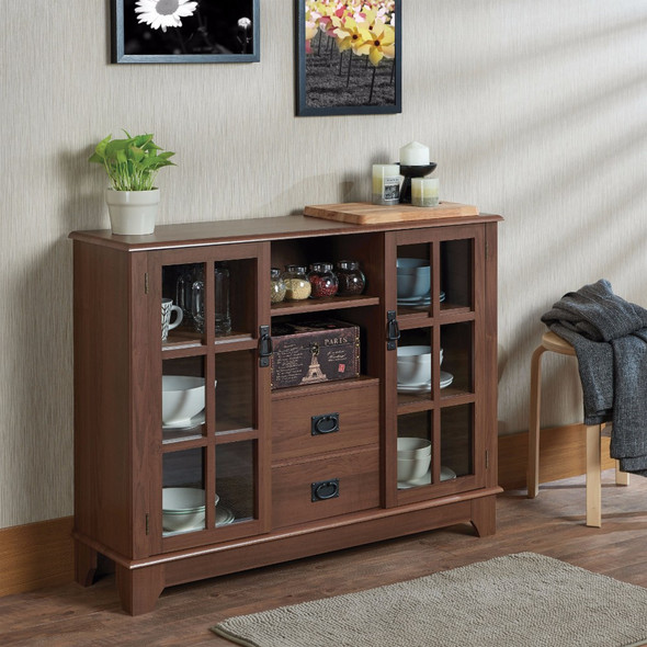 Console Table, Walnut Brown