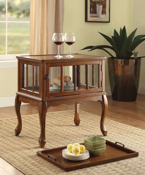 Console Table amp; Tray, Walnut Brown