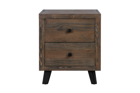 """18"""" X 22"""" X 26"""" Brown Pine Wood And Mdf Nightstand"""