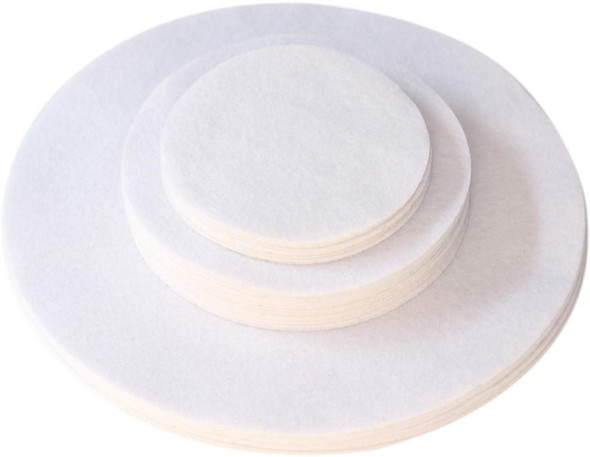 "12-10"", 24-6"", 12-4.5"" Soft White, Dish Separator Pads, Felt Plate Dividers Set of 48"