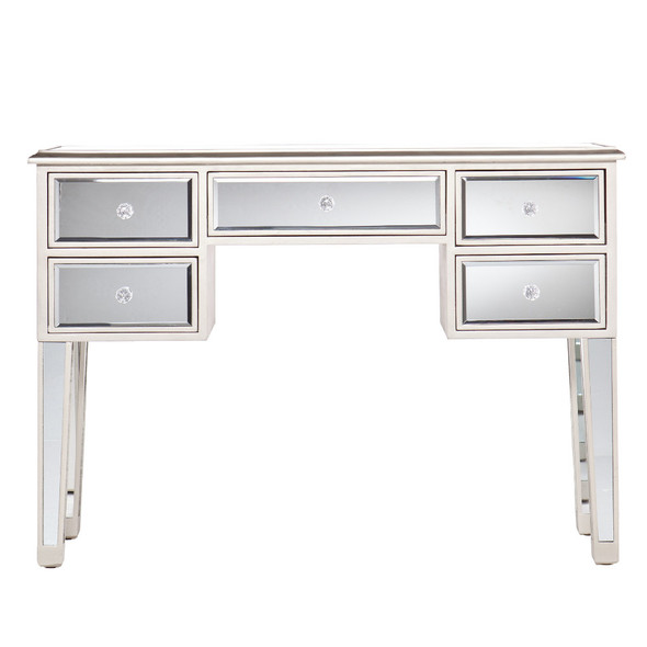 Mirror Console Table/Sofa Console Table, Silver amp; Clear