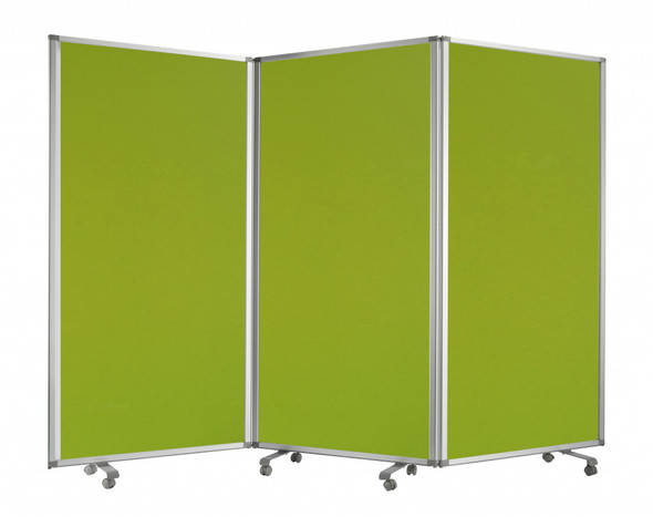 "106"" x 1"" x 71"" Green, Metal and Fabric - Screen"