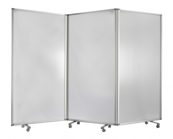 "106"" x 1"" x 71"" White, Metal and PVC Resilient - Screen"