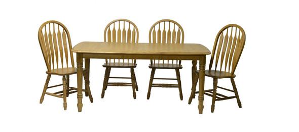 "36"" X 68"" X 30"" Harvest Oak Hardwood Table"