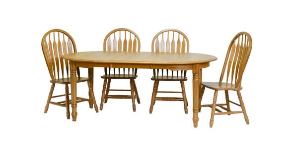 "42"" X 74"" X 30"" Harvest Oak Hardwood Table"