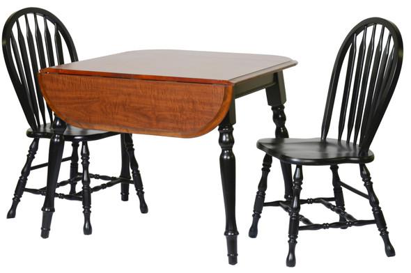 "36"" X 45"" X 30"" Harvest Oak Hardwood Drop Leaf Table"