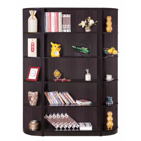 Corner Bookcase With 5 Open Shelves