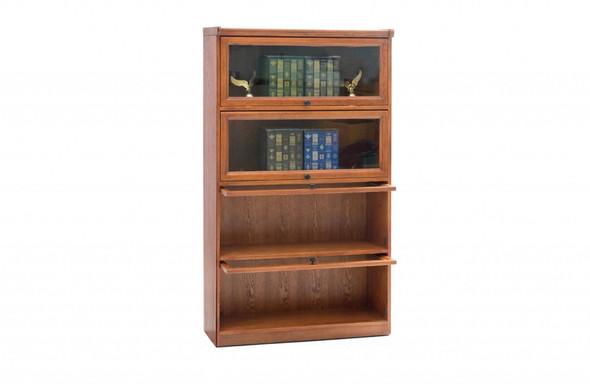 "36"" X 13"" X 59.25"" Harvest Oak Hardwood Bookcase"