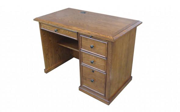 "42"" X 24"" X 30"" Burnished Walnut Hardwood Desk"