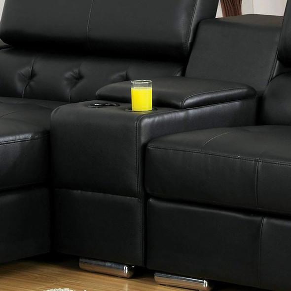 Contemporary Style Console, Black