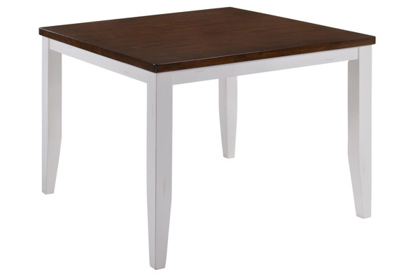 "48"" X 48"" X 36"" White Cinnamon Hardwood Gathering Table"