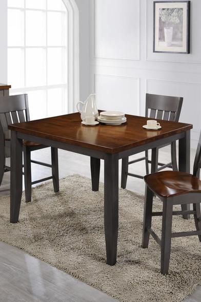 "48"" X 48"" X 36"" Grey Cinnamon Hardwood Gathering Table"